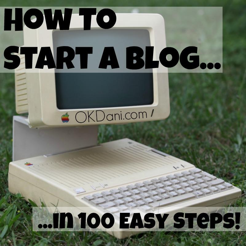 how to start a blog okdani