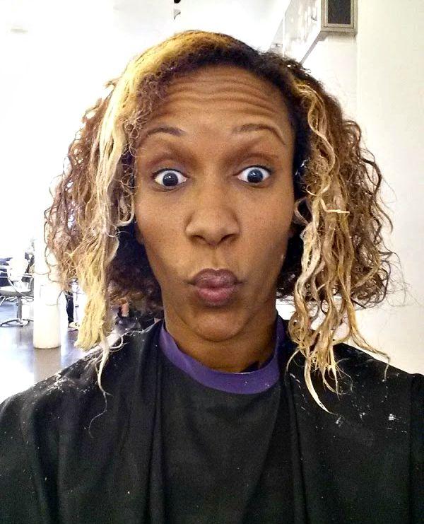 during blonding