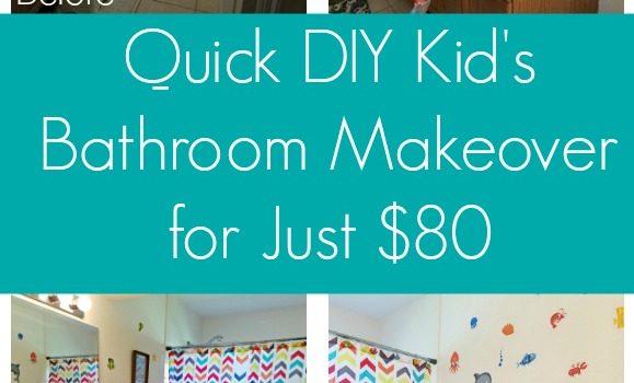 """Kids Bathroom """"Makeover"""" – A Refresh for Under $80"""