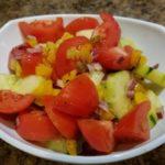 Easy Paleo Tomato Cucumber Salad #FreshFromFlorida